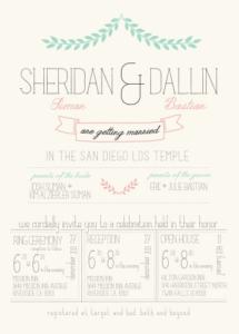 dallin_sheridan_front Wedding Invitations