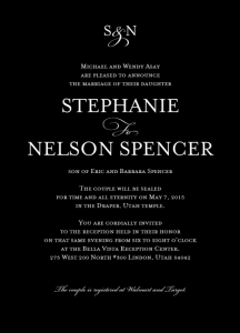 invitation-5x7-Stephanie-Nelson-front Wedding Invitations