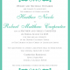Heather 5x7 Front Wedding Invitaitons