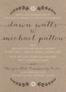 dawn_front_web Wedding Invitations