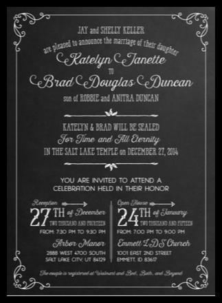 Utah Wedding Invitations