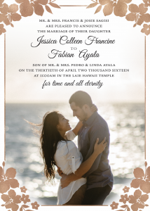 jessica_front Wedding Invites