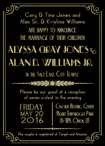 alyssa-and-alan-5x7-front Wedding Invitation