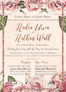nadia-and-nathan-front Wedding Invitations