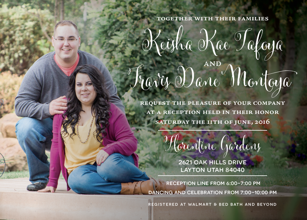 keisha_front_web Wedding Invitations