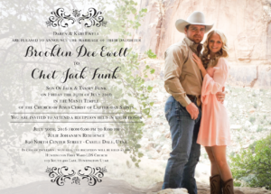 Brooklin Ewell Front Wedding Invitations