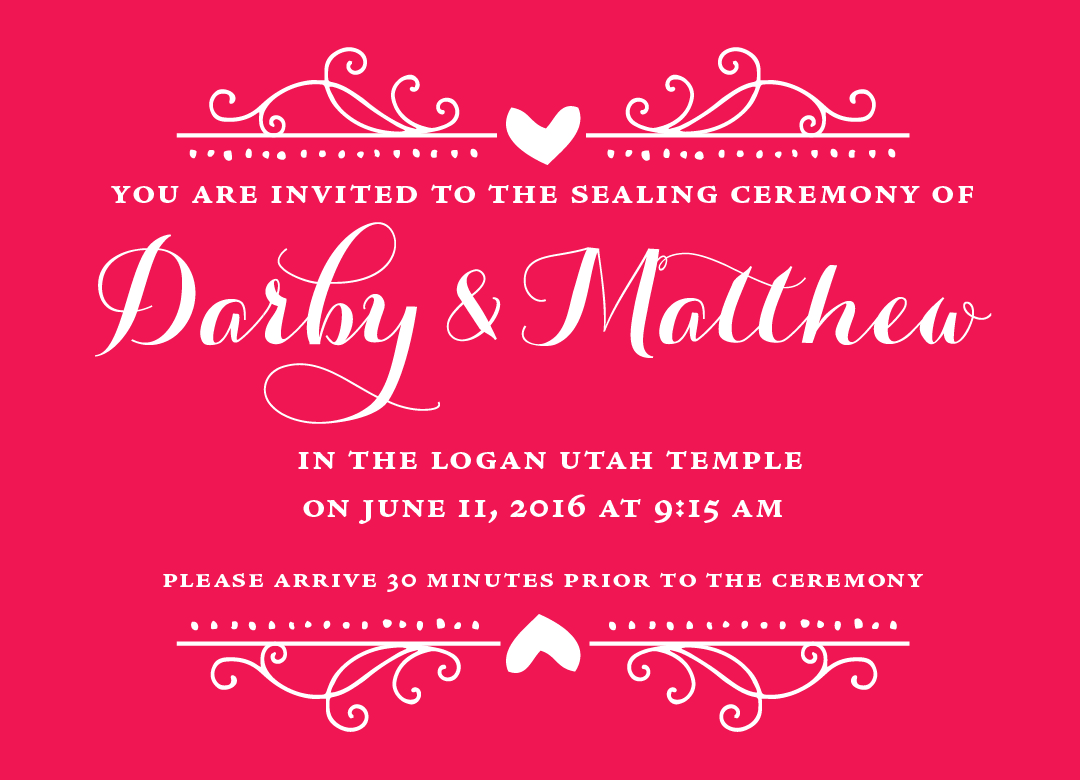 Darby and Matthew | Utah Announcements