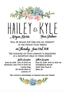 hailey-and-kyle-5x7-front Wedding Invitations