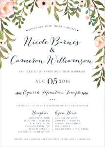 nicole-barnes-front Wedding Invitations