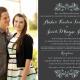 amber Wedding Invitation