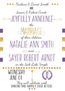 NatalieInviteFront Wedding Invites