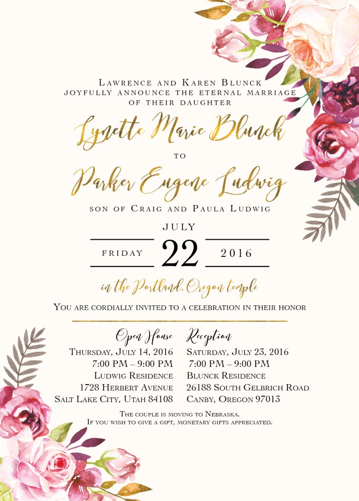 Lynette Blunck Front Wedding Invitations