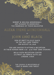 Alexa Wedding Invites