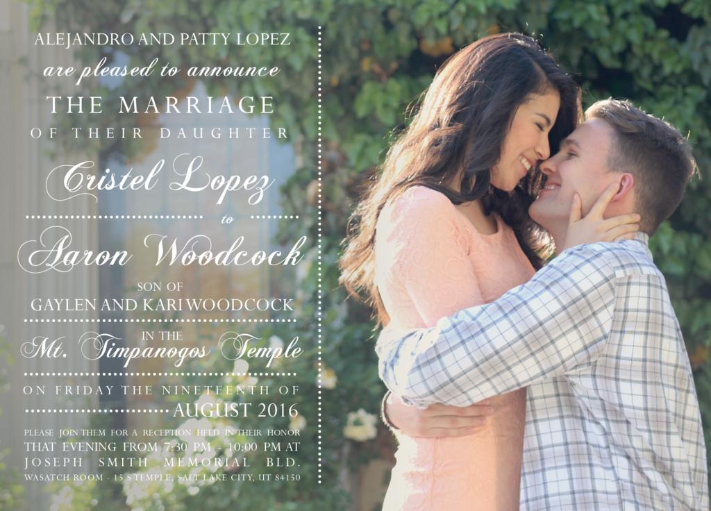 Cristel-Lopez-Front Wedding Invitations