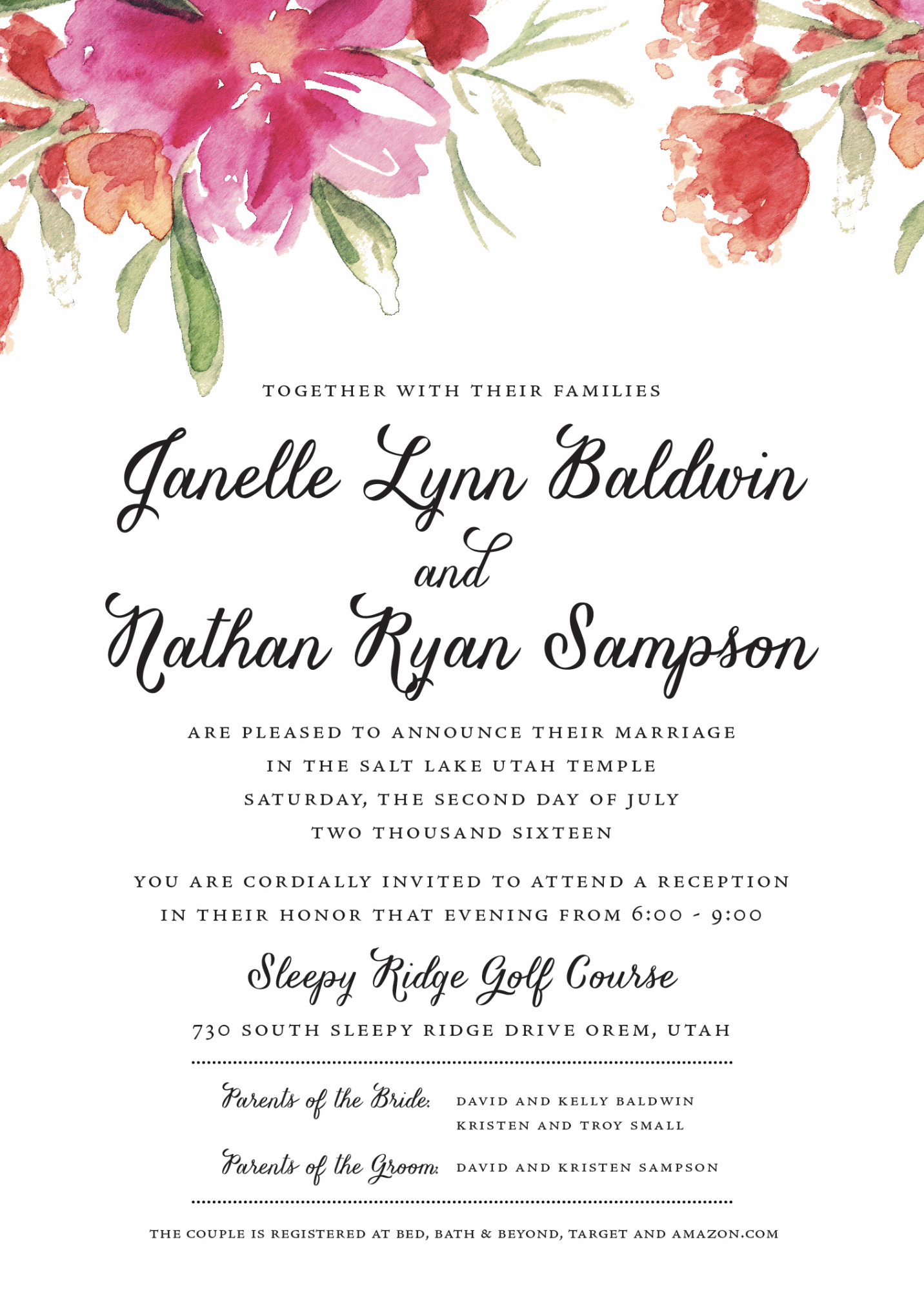 Cheap Wedding Invitations | Wedding Announcements | Utah Announcements