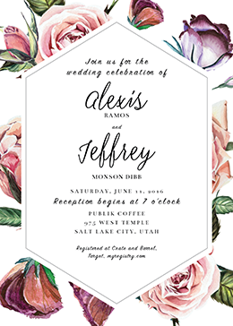 Wedding announcements utah announcements cheap wedding alexis and jeffrey wedding invitations stopboris Choice Image