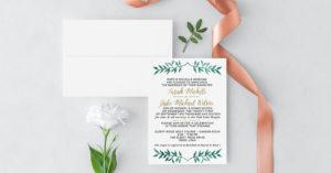 Cedar City Utah Wedding Invitations