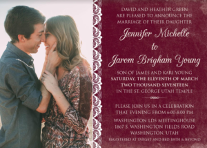 Jennifer-and-Jarom wedding Card