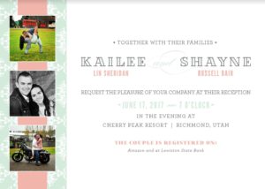 Kailee-and-Shayne-Front Wedding Invitation