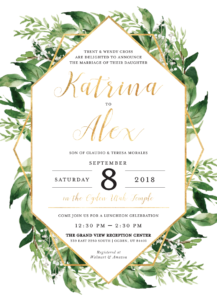 Katrina-and-Alex Wedding Invitations