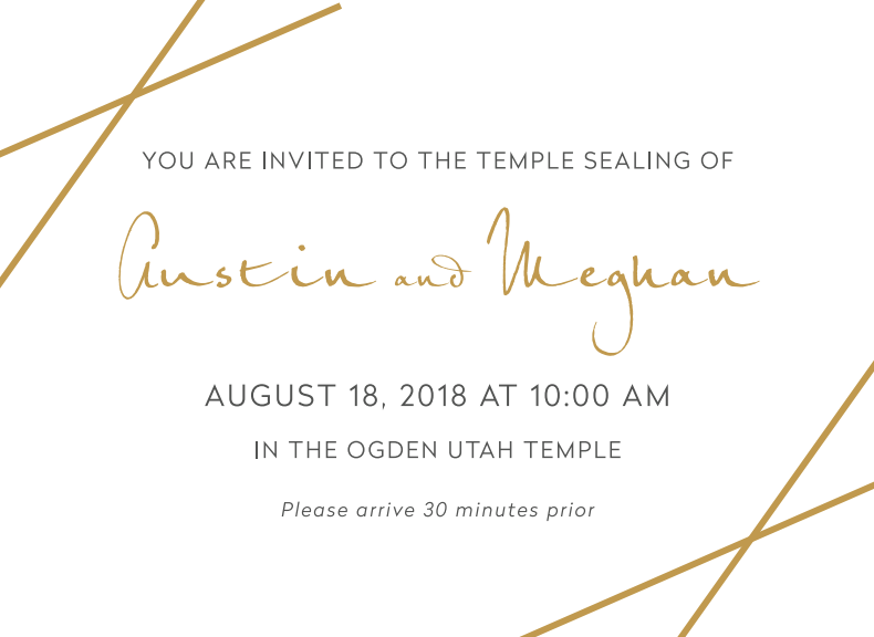 Meghan-and-Austin Wedding Invitations