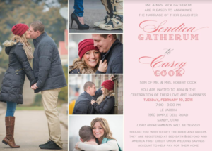 Sendiea-and-Casey-Front Wedding Invitations