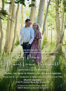 Bailey-Olcott-Front Wedding Invitations