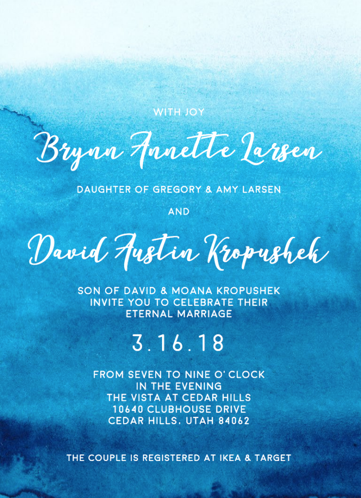 Brynn-Larsen-Front Wedding Invitations