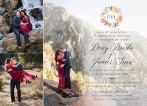 Deicy-Acosta-front Wedding Invitations