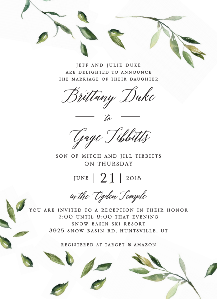 Brittany-Duke-front Wedding Invites