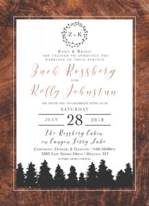 LDS Wedding Invitations Announcements