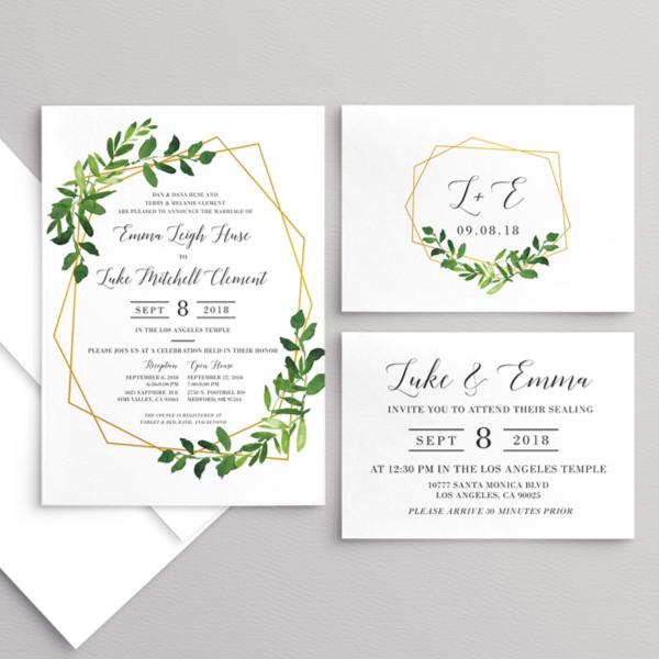 Wedding Invitations Beautiful Wedding Announcements Utah