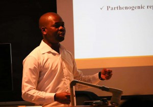 Kunle giving a presentation