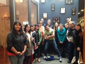 Portland trip students at Deschutes Brewery