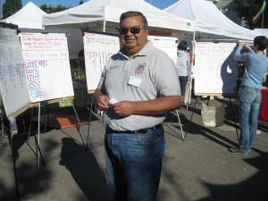 WSU's M. Flores staffs the dots