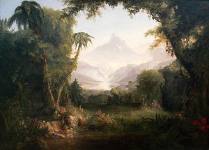 Garden of Eden. Thomas Cole [Public domain], via Wikimedia Commons
