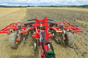 Chisel plow results in less intensive tillage.