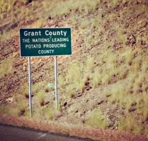 Grant County potato yield Sign