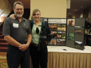 Maurice & Beth Robinette of Lazy R Ranch near Cheney talked with T40 participants about the Pacific Northwest Center for Holistic Management. Photo: Mark Musick