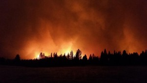 The Grizzly Bear Complex Fires located southeast of Dayton, WA began on Aug. 13, 2015.   Photo: USFS.