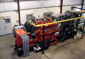 Engine-Generator Set at the Edaleen Dairy in Lynden, WA (photo: M.Apol)