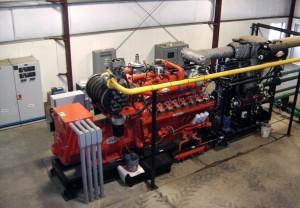 Engine-Generator Set at the Edaleen Dairy in Lynden, WA (photo: M.Apol)