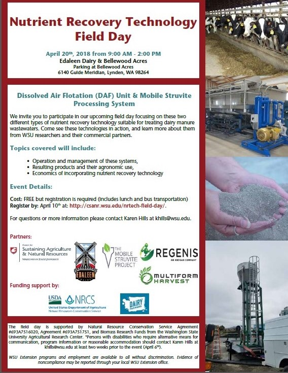 Nutrient Recovery Technology Field Day Flyer