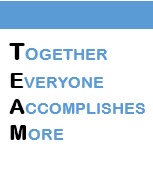Team, Together everyone accomplishes more.