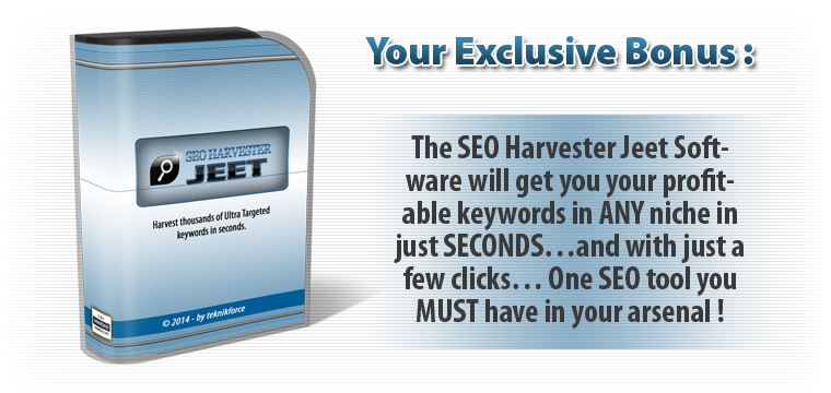 Get SEO Harvester Jeet as Bonus