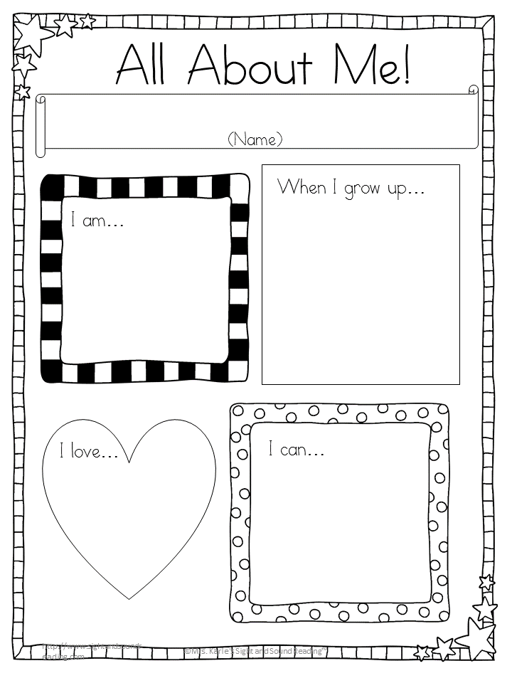 Read All About Me Graphic Organizer Poster
