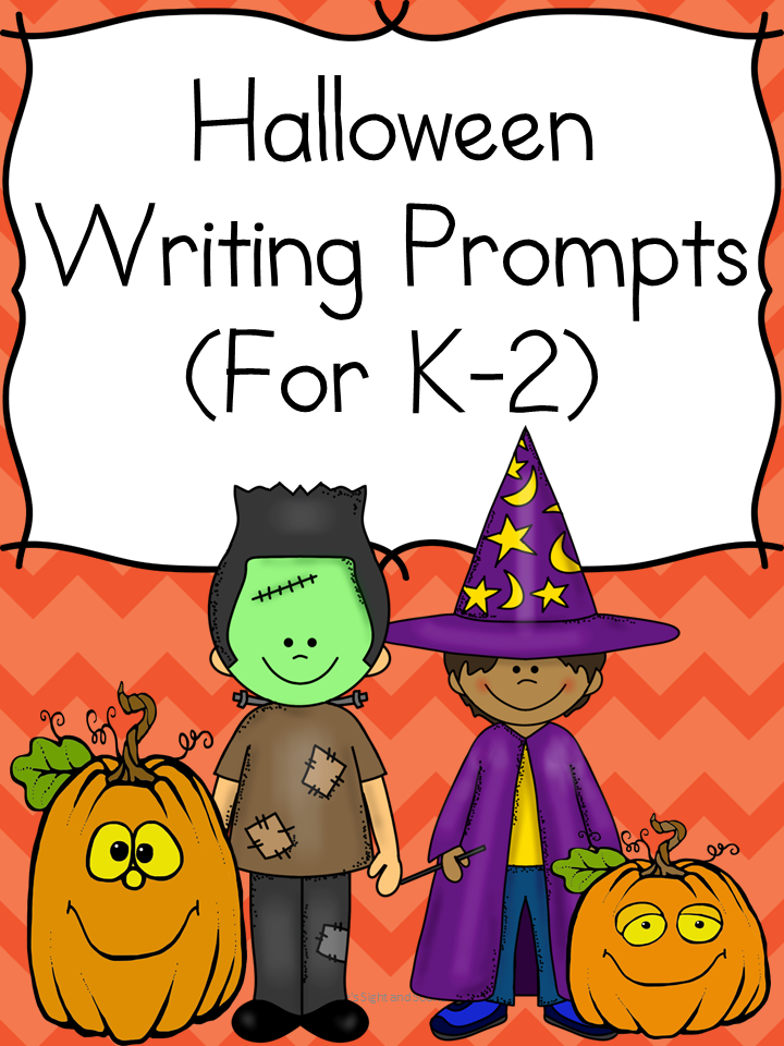 Hall Writing Prompts: Modified to work with kindergarten, first or second grade, these Halloween writing prompts will have your students thinking and writing about crunchy leaves, football and more.