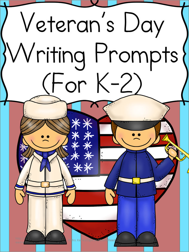 Veteran's Day Writing Prompts: Modified to work with kindergarten, first or second grade, these Veteran's Day Writing Prompts will have your students thinking and writing about Veteran's Day.