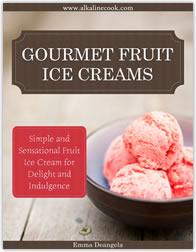 Lactose-free alkaline fruit ice creams