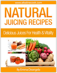 Juicing with alkaline foods for health and vitality